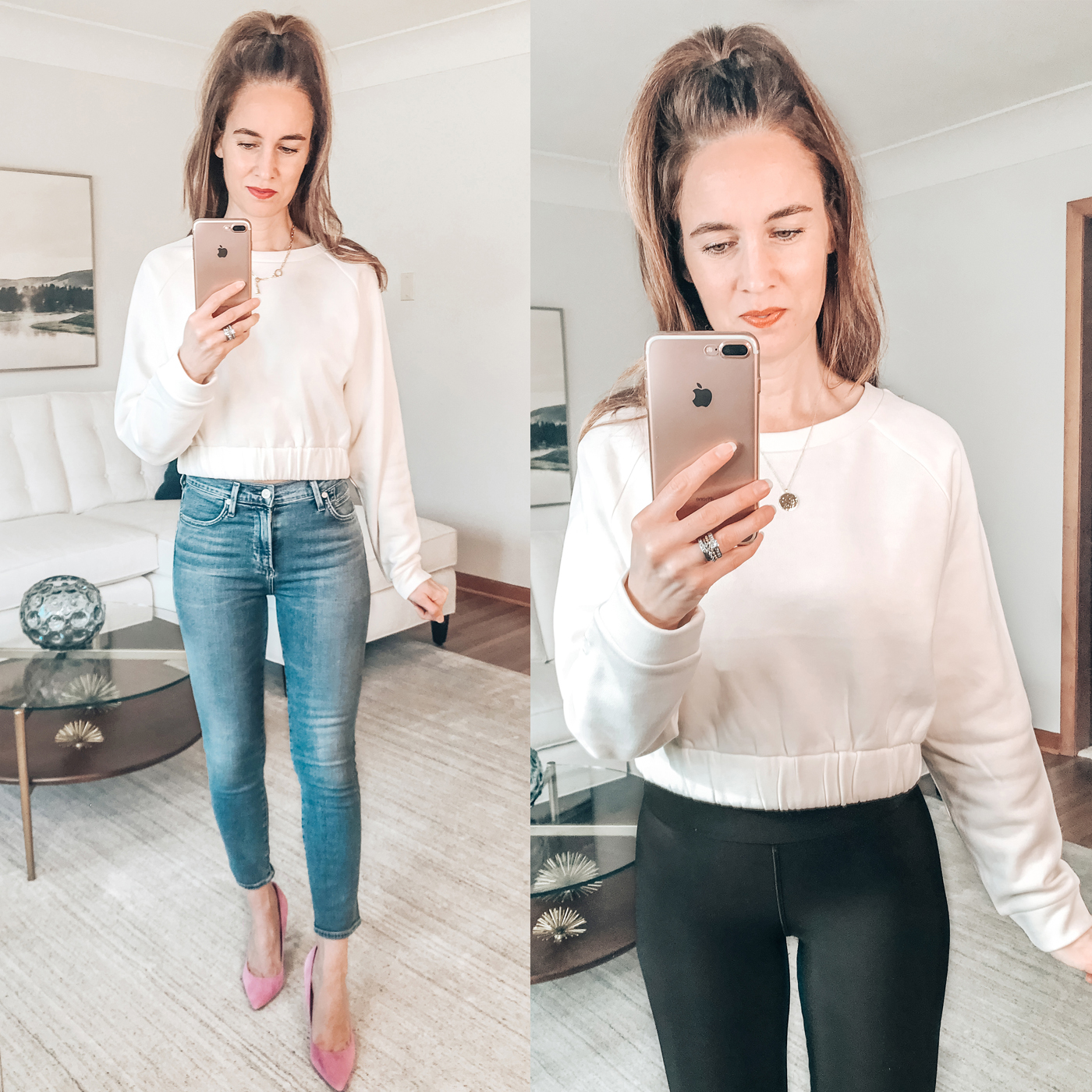 style blogger, try on session, nordstrom rack, juicy couture sweatshirt