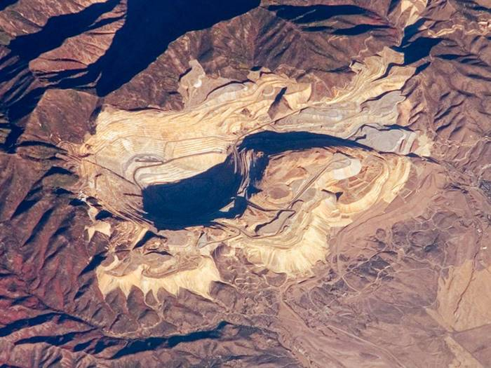 bingham canyon mine from space