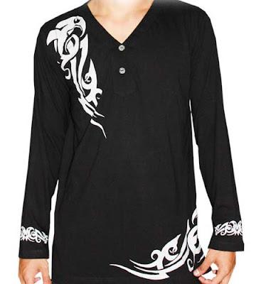 Desain Baju Muslim Pria Warna Hitam Keluaran Terbaru Yang Trendy