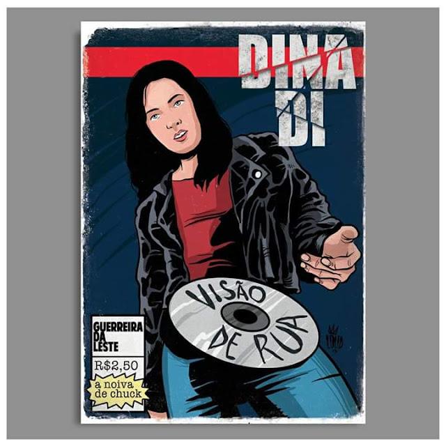 Rap em quadrinho - Dina Di é retratada como Jéssica Jones