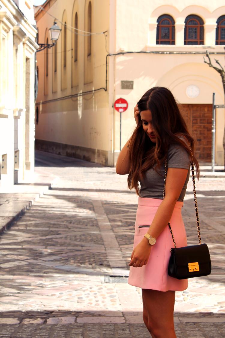falda rosa zara blog de moda