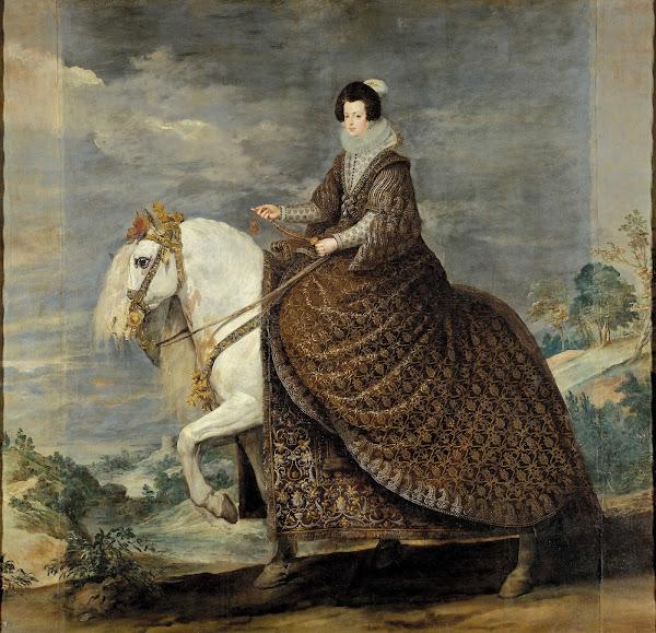 Диего Веласкес - Конный портрет королевы Изабеллы де Бурбон (1635-1636)
