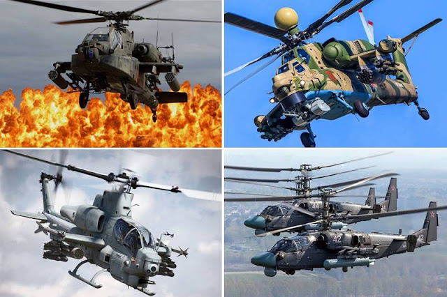 Modern military attack helicopters