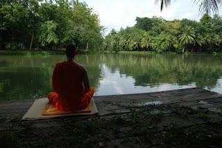 meditatin by the lake