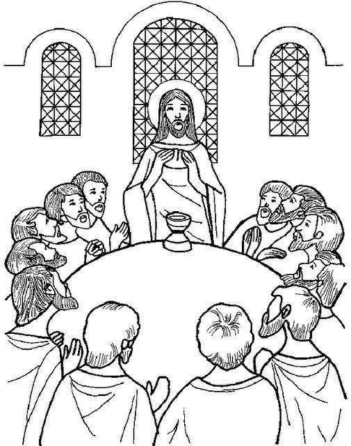 Imagenes Para Colorear De La Ultima Cena De Jesus