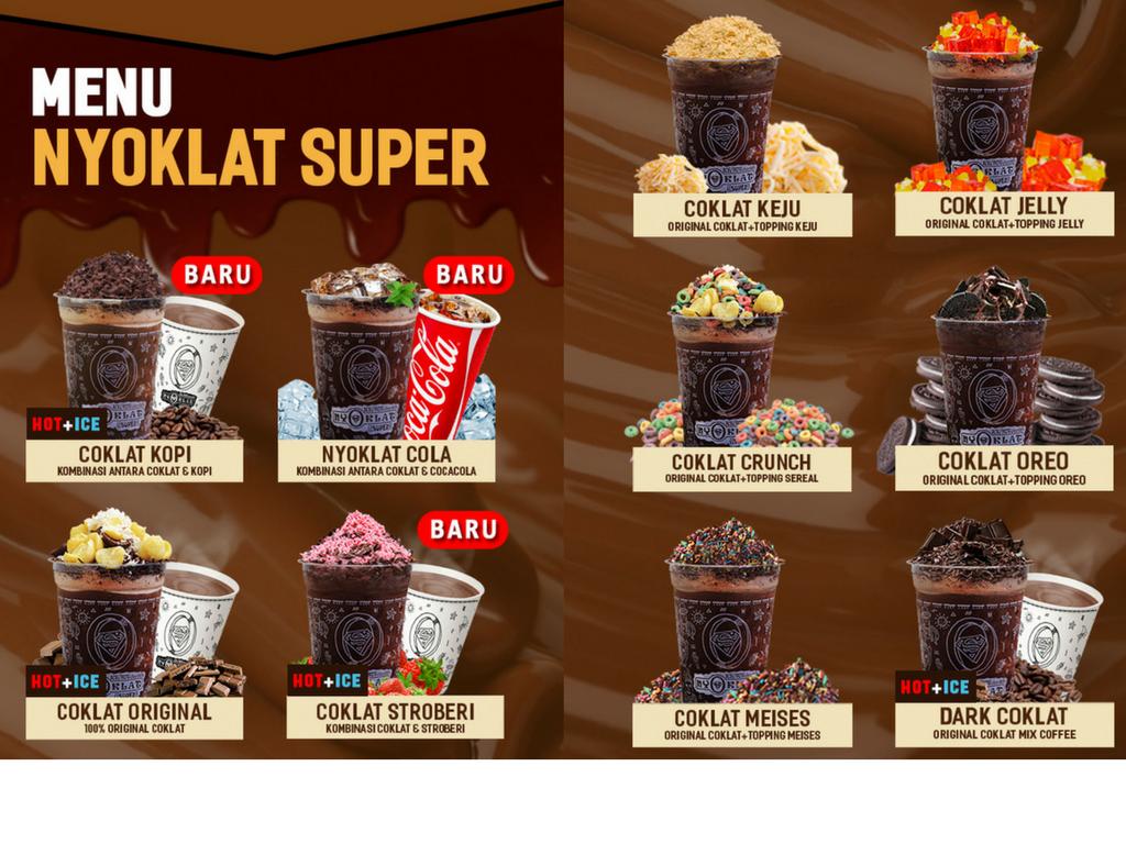 Nyoklat Super Franchise Minuman Coklat Omset Dahsyat