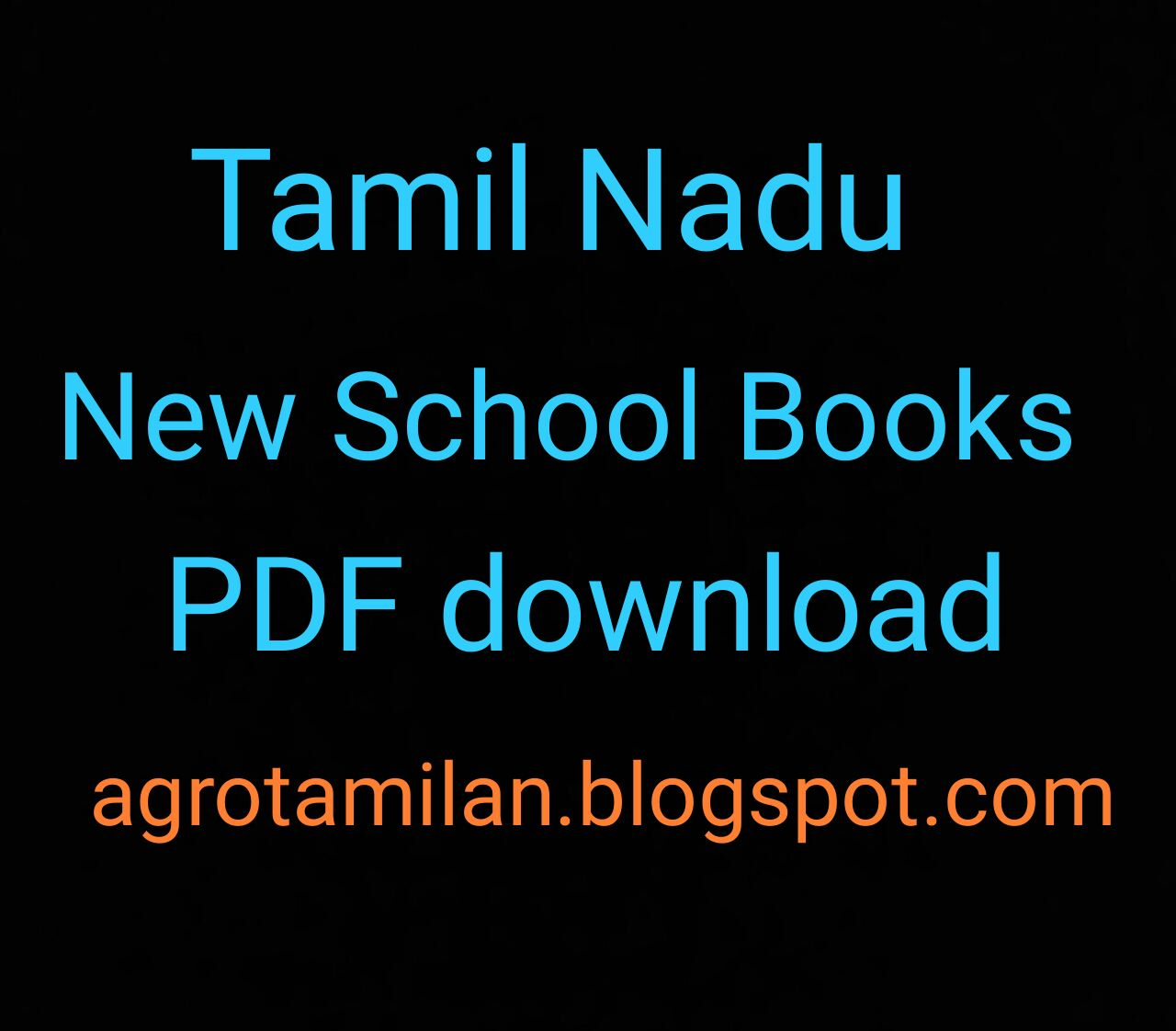 Tamilnadu TNSCERT new 1st 6th 9th 11th books pdf download
