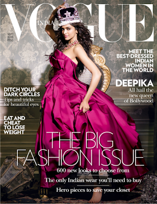 Queen of Bollywood Deepika Padukone on the cover page of Vogue-India