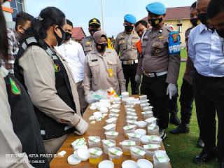 Usai Apel Pagi, Polres Labuhanbatu Chek Urin Dadakan Personel