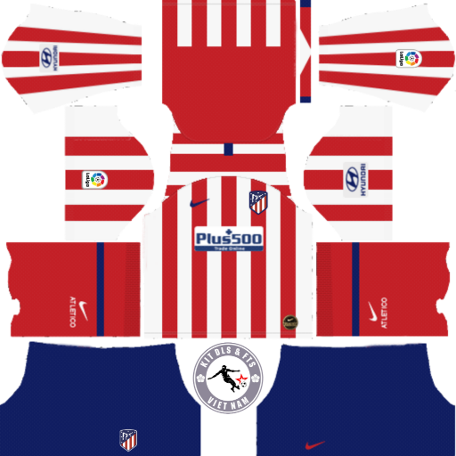 Kits Atletico Madrid 2019 - 2020 Dream League Soccer 2019 & First Touch Soccer