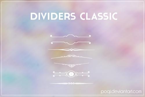 مجموعة فرش فواصل مزخرفة كلاسيكية - Classic Dividers Brushes