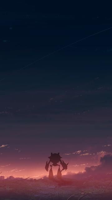 Anime Walking Home Anime Screen Background