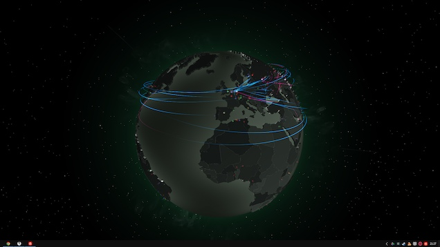 Global Network Traffic Wallpaper Engine Free
