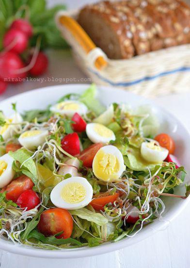 Mirabelkowy Blog Wiosenna Salatka Z Jajkami Przepiorczymi