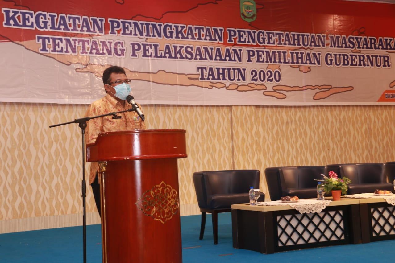 Kesbangpol Tanjungpinang Bekali Pengetahuan Masyarakat Tentang Pilkada Serentak 2020 Yang Digelar Ditengah Pandemi Covid-19