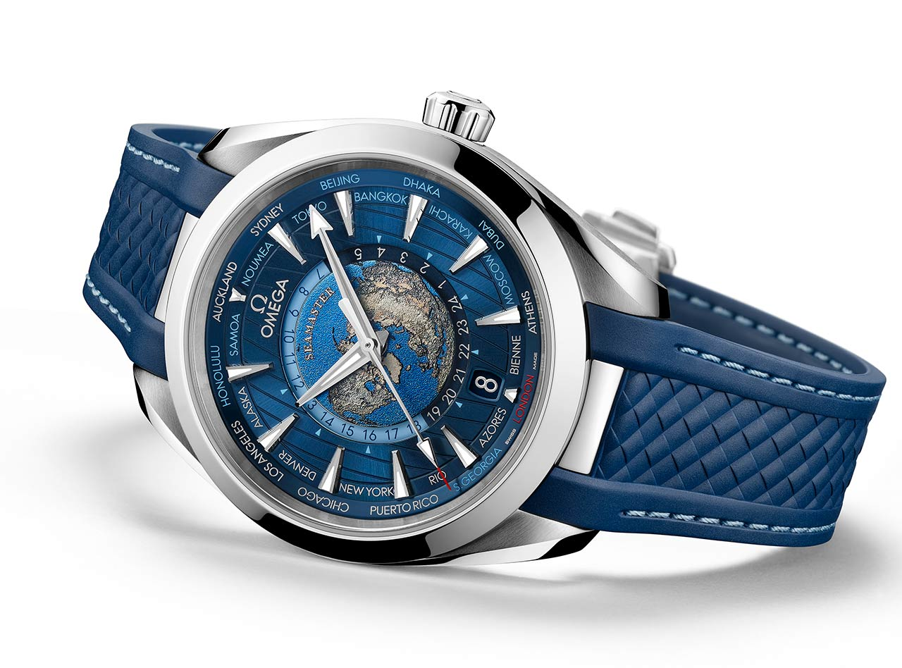 Omega Seamaster Aqua Terra Worldtimer In Steel Time