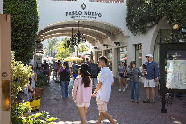 Compras na Paseo Nuevo Shopping em Santa Bárbara