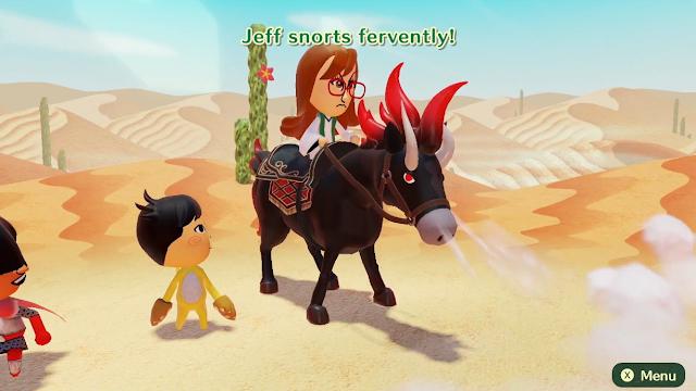Miitopia Nintendo Switch horses snort