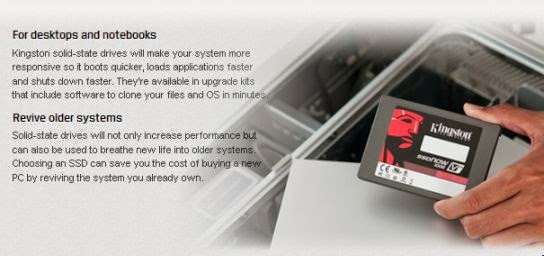 For desktops and notebooks, Revive older systems ~ from Kingston's product page