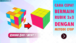 Cara Bermain Rubik 3x3 Dengan Metode Fridrich (CFOP) Pemula.
