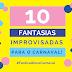 FANTASIAS IMPROVISADAS PARA O CARNAVAL