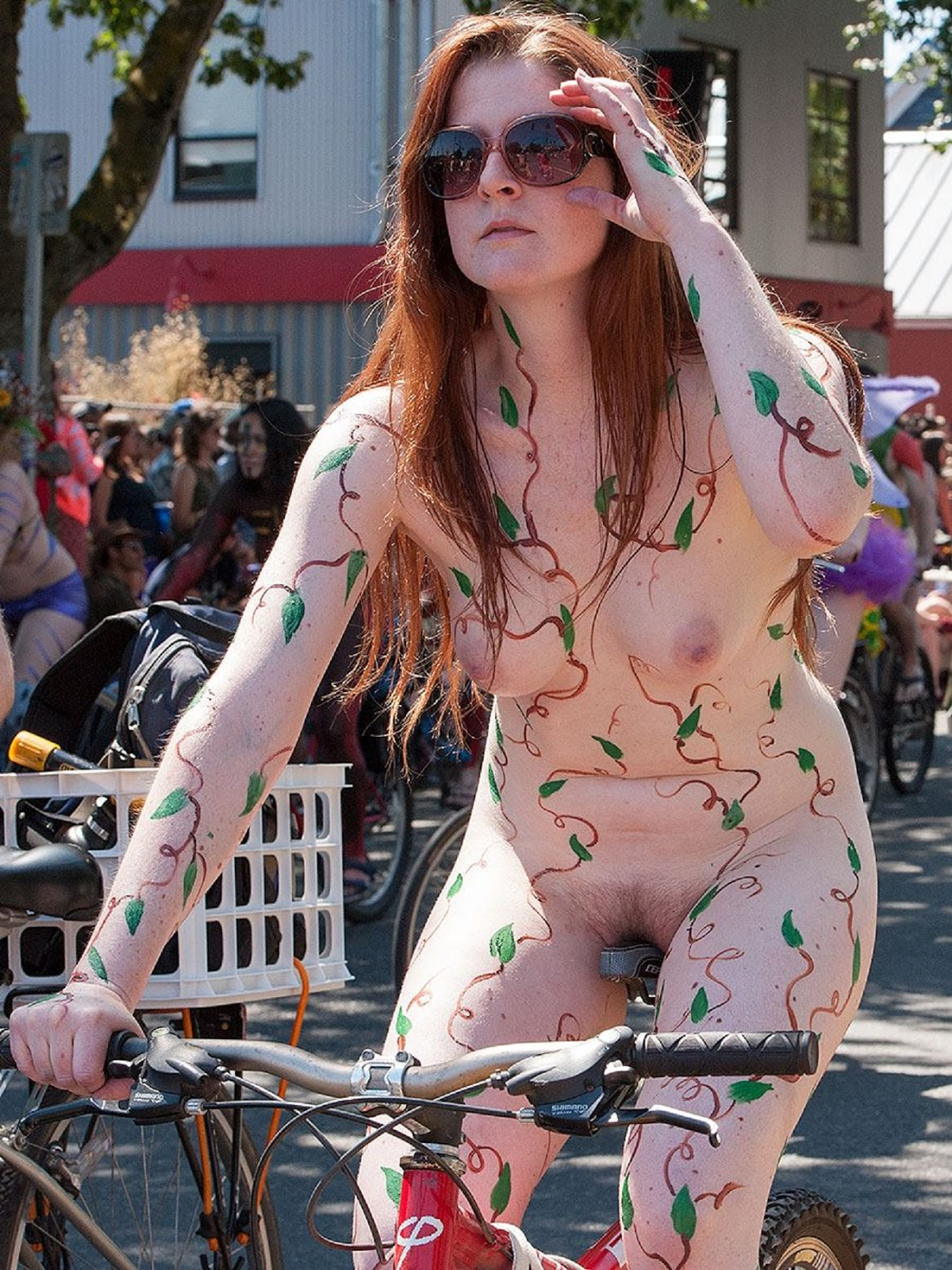 nude bicycle parade hairy