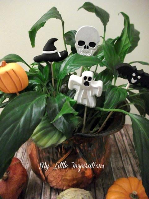 Decorazioni in gesso per Halloween - con zucche 3 - My Little Inspirations