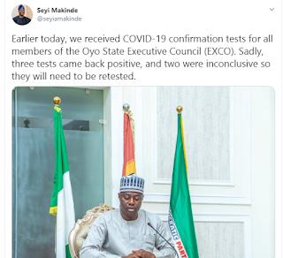 Panic As 3 Members Of The Oyo Executive Council Test Positive For Coronavirus