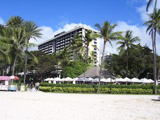 Hale Koa military resort on Waikiki Beach in Oahu, Hawaii