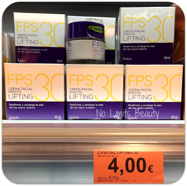 Crema facial efecto lifting con SPF30 de Deliplús