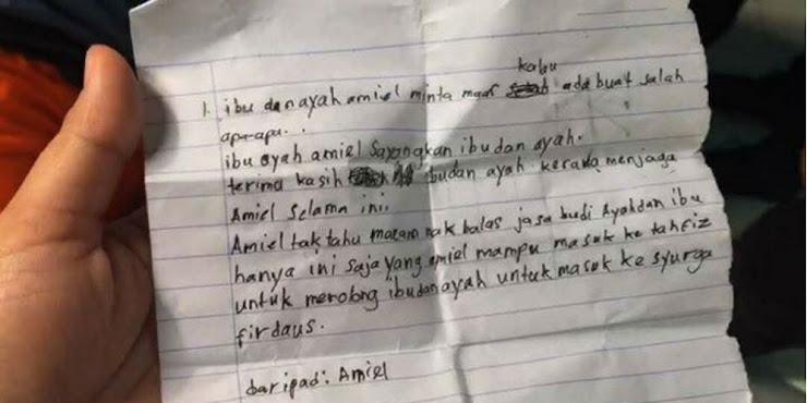 Surat Terakhir dari Santri Ponpes Darul Quran Ittifaqiyah yang Terbakar