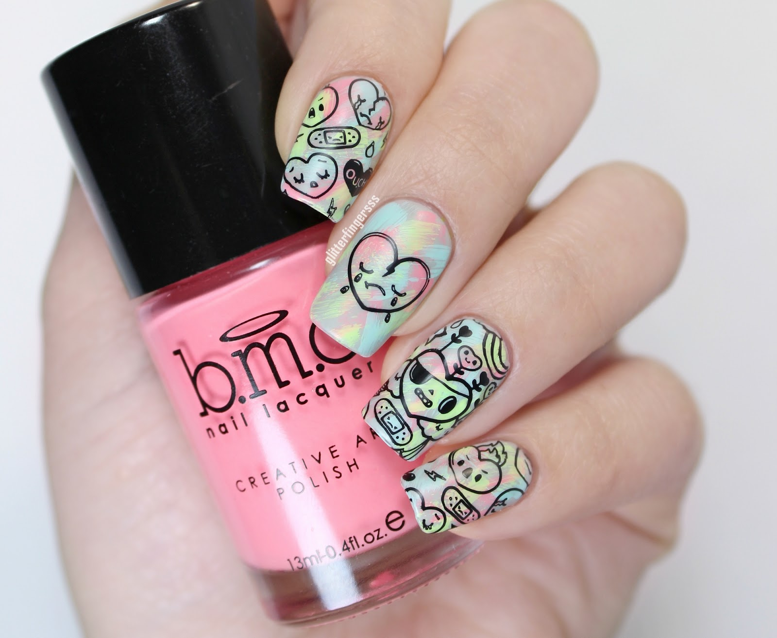 Bundle Monster | Kawaii stamping plates ~ Glitterfingersss in english