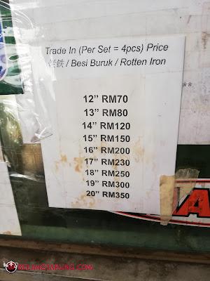Harga Trade In Rim Terpakai