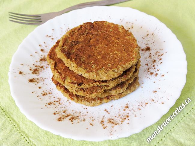 Tortitas de avena y manzana