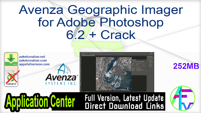 Avenza Geographic Imager for Adobe Photoshop 6.2 + Crack
