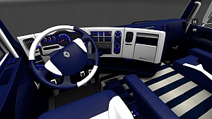 Blue and White interiors for Renault trucks