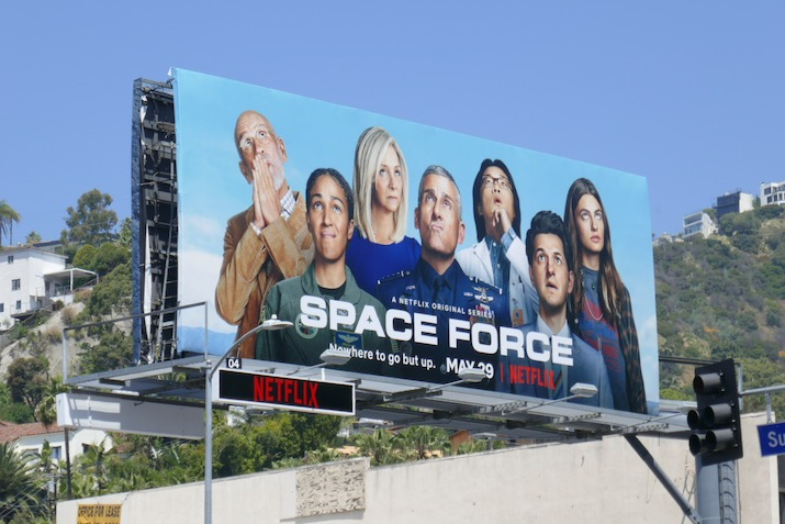 Space Force series launch billboard