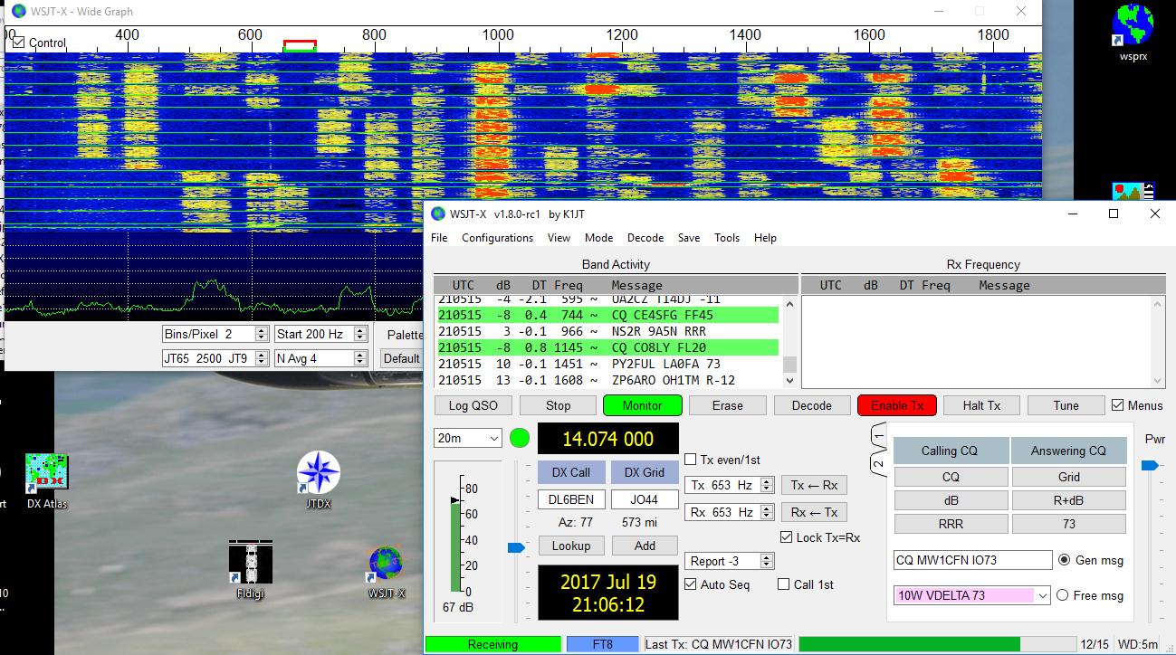 radio waterfall digital Amateur