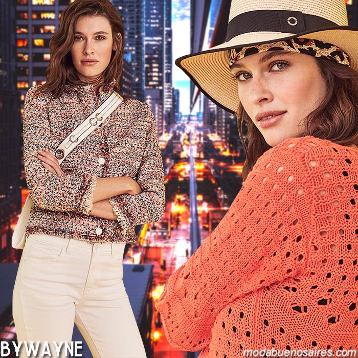 Chaquetas, sacos y sweaters tejidos primavera verano 2020. Moda primavera verano 2020 argentina.