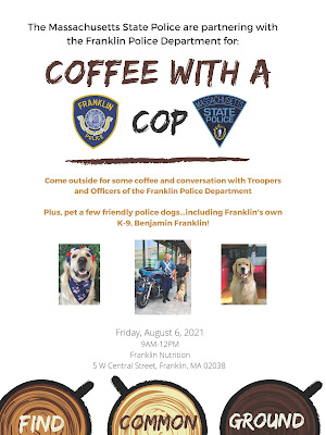Coffee with a cop - Franklin Police and State Police - Aug 6