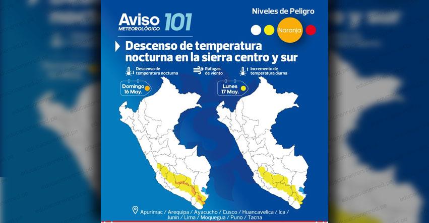 SENAMHI ALERTA: Estos departamentos de la Sierra sur soportarían temperaturas de 18 grados bajo cero - www.senamhi.gob.pe