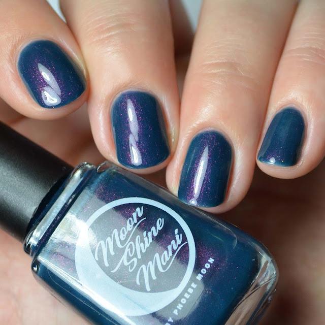 navy nail polish with color shifting shimmer