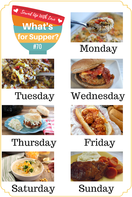 What's for Supper Sunday meal plan recipes at Served Up With Love
