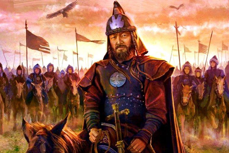Nehrin karşı kıyısına çıkan Celaleddin Harzemşah, Cengiz Han'a bakarak intikam yeminleri etti.