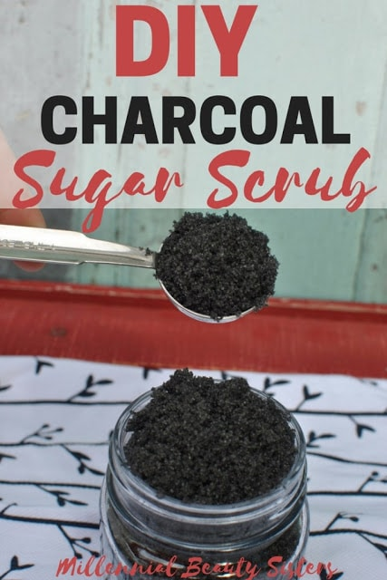 homemade body scrub recipe with charcoal