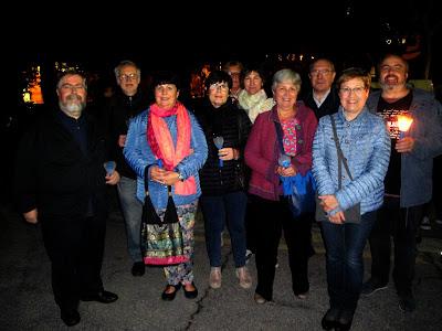 Membres del CEII durant la visita al cementiri del Poblenou. 2020 (Autor: Jordi Esplugas)