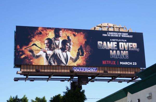 Game Over Man movie billboard