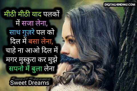 hindi good night shayari photo