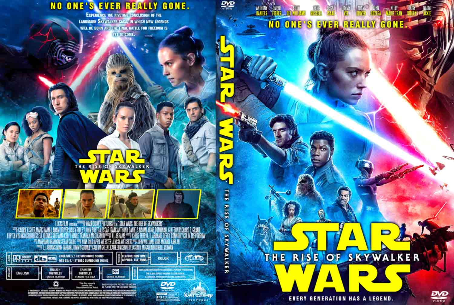 Star Wars Episode Ix The Rise Of Skywalker Dvd Cover Cover Addict Free Dvd Bluray Covers And Movie Posters