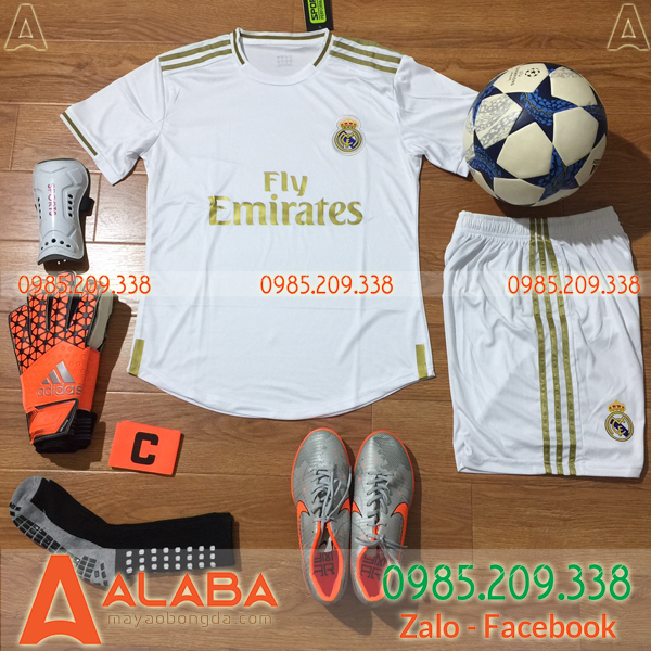 Áo CLB Real Madrid 2019 màu trắng đẹp